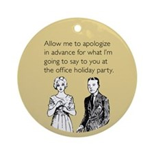 Office Holiday Party Ornament (Round)