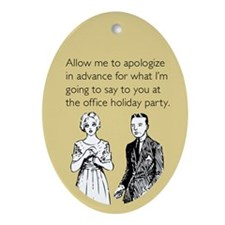 Office Holiday Party Ornament (Oval)