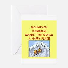 mountain climbing Greeting Card