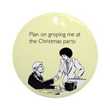 Christmas Party Groping Ornament (Round)