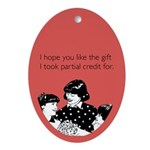 Partial Credit Gift Ornament (Oval)