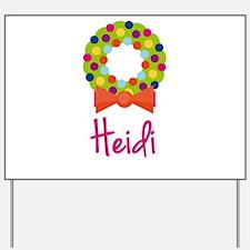 Christmas Wreath Heidi Yard Sign
