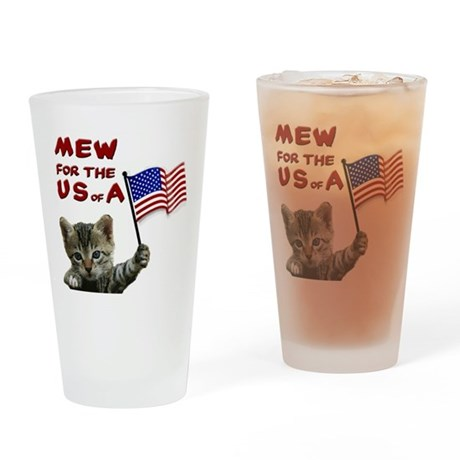 Fourth of July Drinking Glass