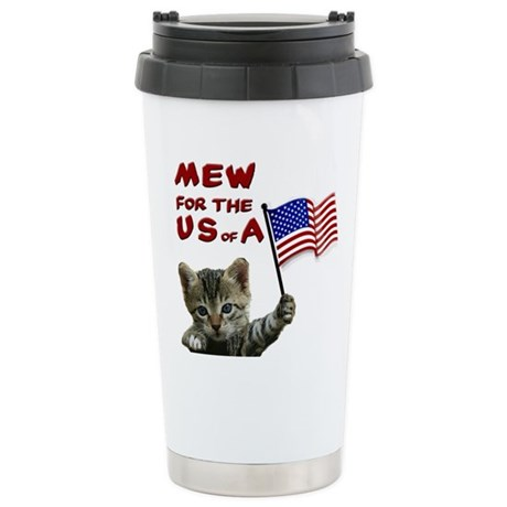 Fourth of July Stainless Steel Travel Mug