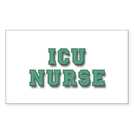 ICU Nurse Sticker (Rectangle)