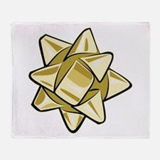 Gold Bow Throw Blanket