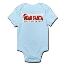 Dear Santa - Sister Infant Bodysuit