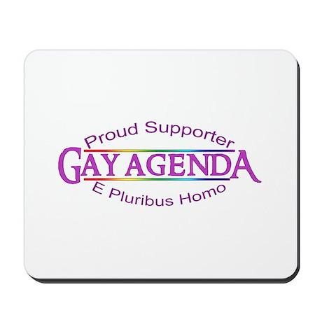 Gay Agenda Mousepad