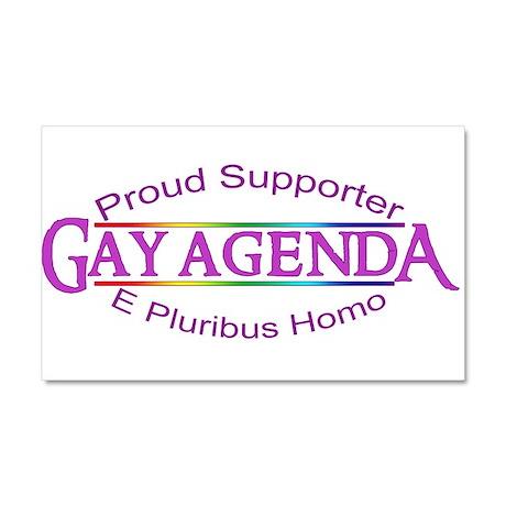 Gay Agenda Car Magnet 20 x 12