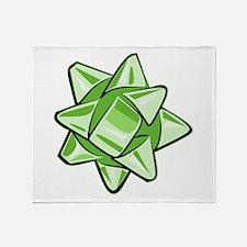 Green Bow Throw Blanket