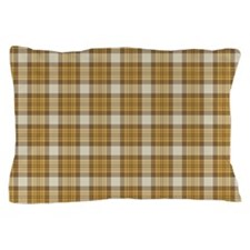 Brown Plaid Pillow Case
