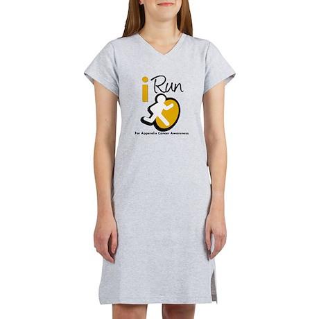 I Run Appendix Cancer Women's Nightshirt