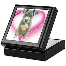 Pitbull puppy Keepsake Box