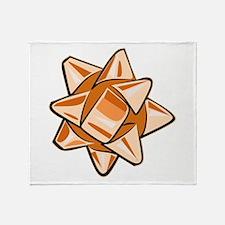 Orange Bow Throw Blanket