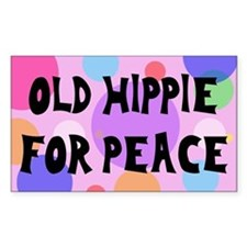 old hippie... Rectangle Decal