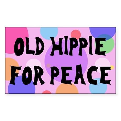 old hippie... Rectangle Sticker