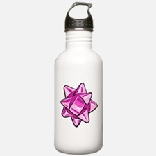 Pink Bow Water Bottle