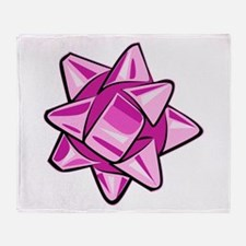 Pink Bow Throw Blanket