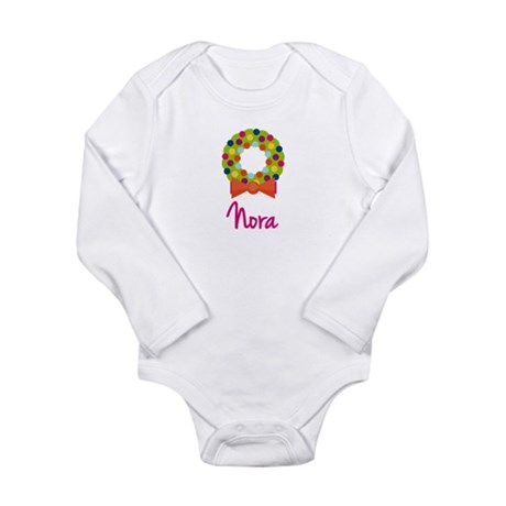 Christmas Wreath Nora Long Sleeve Infant Bodysuit