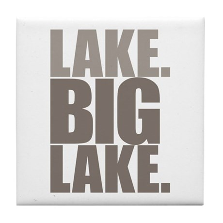 Lake. Big Lake. Tile Coaster