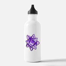 Purple Bow Water Bottle