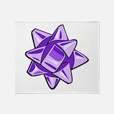 Purple Bow Throw Blanket