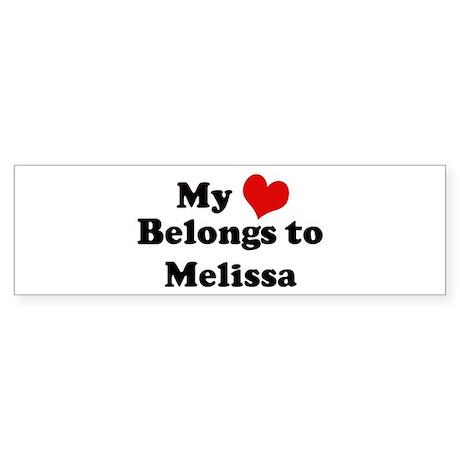 My Heart: Melissa Bumper Sticker