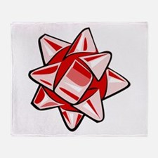 Red Bow Throw Blanket
