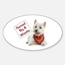 Own By A Westie 125 Decal