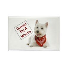 Own By A Westie 125 Rectangle Magnet