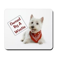 Own By A Westie 125 Mousepad