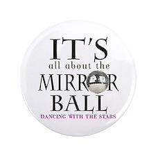 "DWTS Mirror Ball 3.5"" Button"