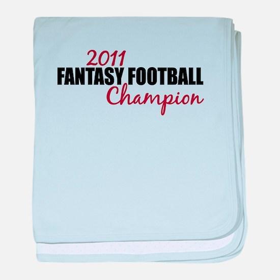 2011 Fantasy Football Champion baby blanket