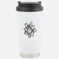Silver Bow Stainless Steel Travel Mug