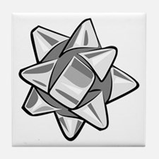 Silver Bow Tile Coaster