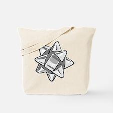 Silver Bow Tote Bag