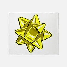 Yellow Bow Throw Blanket