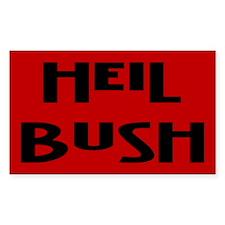 heil bush... Rectangle Decal