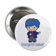 """Kindergarten Graduate (Boy) 2.25"""" Button (10 pack)"""