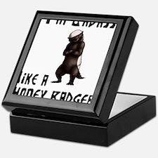 I'm Badass Like a Honey Badge Keepsake Box