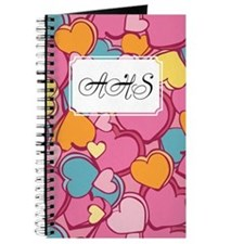 Candy Hearts Pink Journal