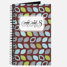 Dot Pattern Brown Blue Journal