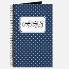 Diagonal Dots Navy Journal