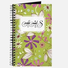 Flower Botanical Green Journal