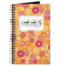Flower Dots Yellow Journal