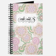 Flower Retro Green Lilac Journal