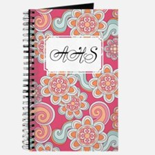 Flower Retro Pink Journal