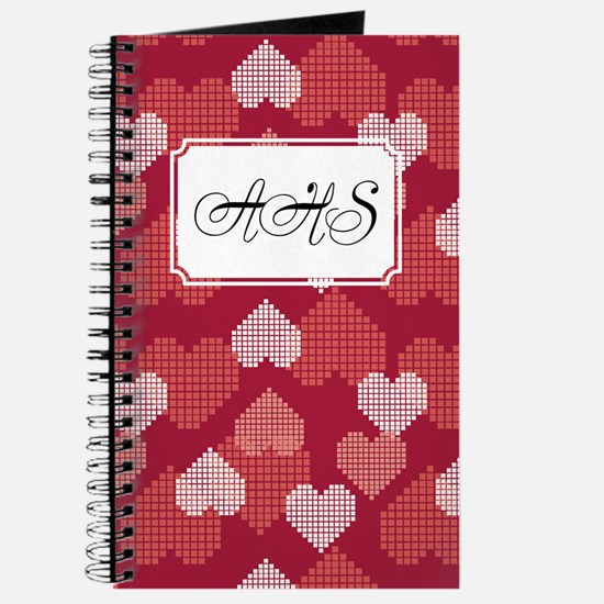 Geometric Hearts Red Journal