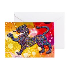 Royal Spotted Leopard Abstrac Greeting Card
