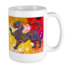 Royal Spotted Leopard Abstrac Mug